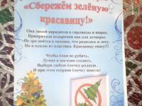 """Экологическая акция """"Сбережем зеленую красавицу"""""""
