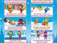Правила безопасного поведения в холодное время года