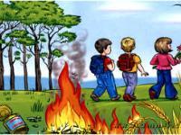 Правила поведения детей при пожаре (мультфильм)